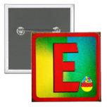 Letra E del alfabeto Pin