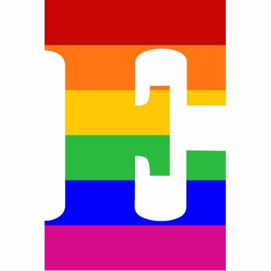 Letra E del arco iris Adorno Fotoescultura