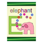 Letra E del elefante Comunicados Personales