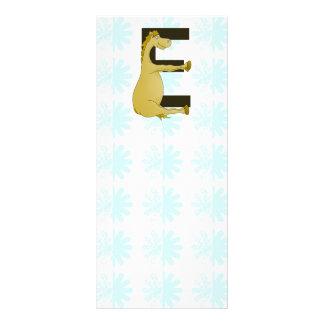 Letra E del monograma del potro personalizada Lonas Publicitarias