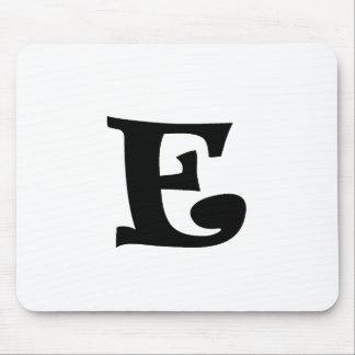 Letra E_large Alfombrilla De Ratón