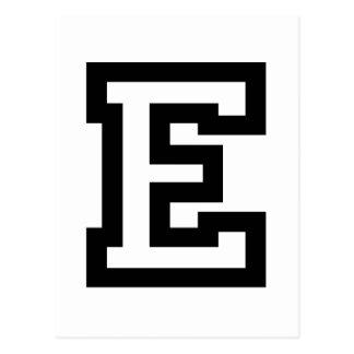 Letra E Postal