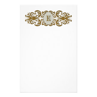 Letra enrollada adornada del monograma papeleria de diseño