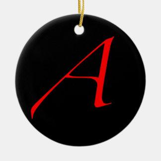 Letra escarlata A/el ateísmo Adorno De Navidad