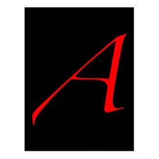 Letra escarlata A (para el ateo) Tarjetas Postales