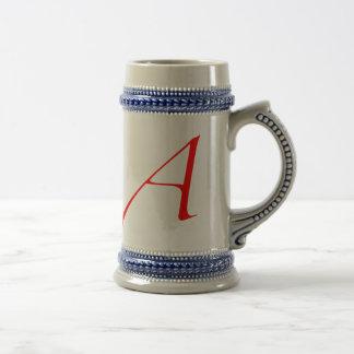 Letra escarlata atea Stein Jarra De Cerveza