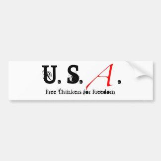 Letra escarlata pequeña, los E.E.U.U.. , Pensadore Pegatina Para Auto
