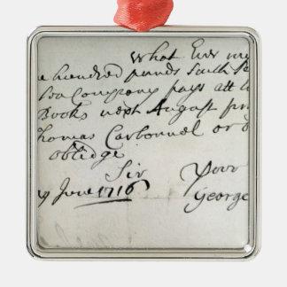 Letra escrita por Handel, junio de 1716 Ornatos