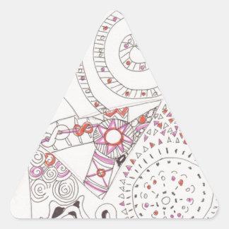 letra extranjera enredada del alfabeto pegatinas de triangulo personalizadas