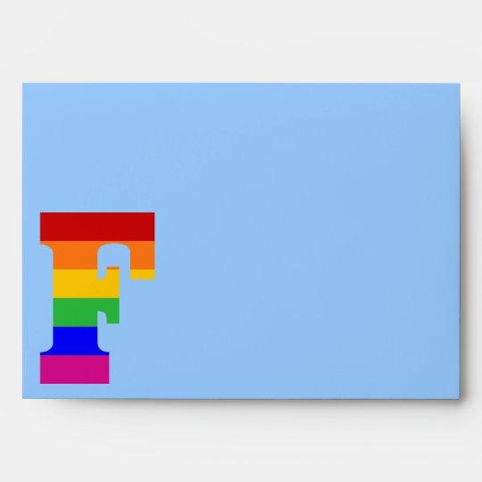 Letra F del arco iris Sobres
