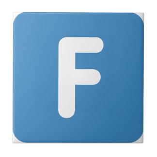 Letra F - gorjeo del emoji Azulejo Cuadrado Pequeño
