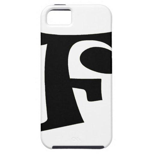 Letra F_large iPhone 5 Case-Mate Cobertura