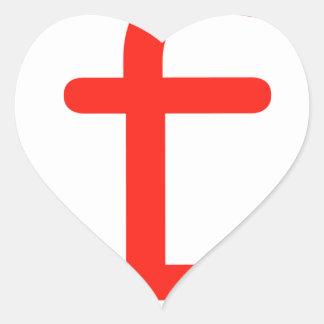 Letra f pegatina en forma de corazón