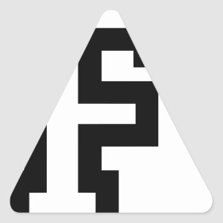 Letra F Pegatina Triangular