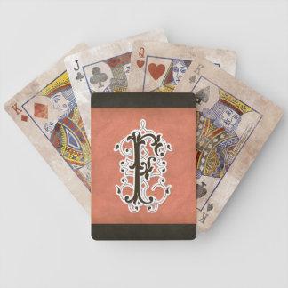 Letra F - Vintage moderno de la decoración Baraja