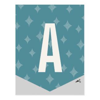 Letra festiva 1 de la bandera del Año Nuevo de DIY Postales