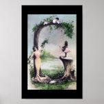 LETRA G - Arte de la postal del alfabeto del monog Posters