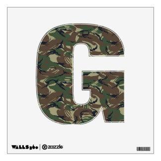 Letra G - camuflaje del alfabeto del bosque de Vinilo Decorativo