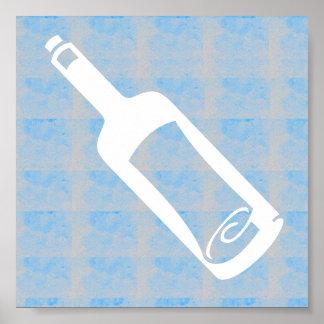Letra gráfica del deco en una botella póster