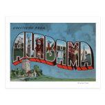 Letra grande (azul) ScenesAlabama de Alabama Postales
