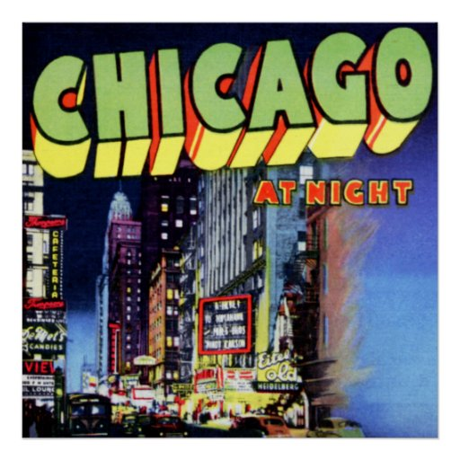 Letra grande de Chicago Illinois Impresiones