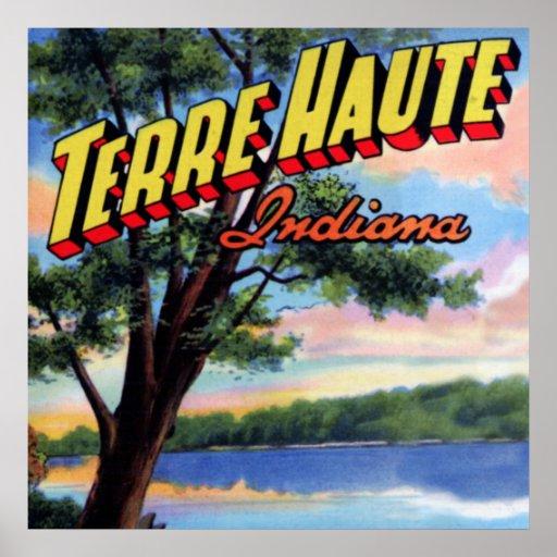 Letra grande de Terre Haute Indiana Poster