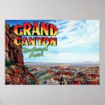 Letra grande del parque nacional del Gran Cañón Posters