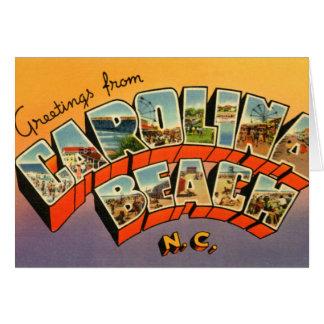 Letra grande Greetin de Carolina del Norte de la p Tarjetón