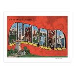 Letra grande (roja) ScenesAlabama de Alabama Tarjetas Postales