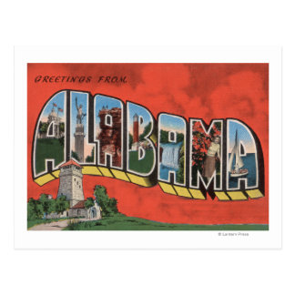 Letra grande (roja) ScenesAlabama de Alabama Postal