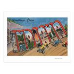 Letra grande ScenesIndiana de Indiana (Racecar) Tarjetas Postales