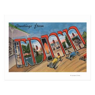 Letra grande ScenesIndiana de Indiana (Racecar) Tarjeta Postal