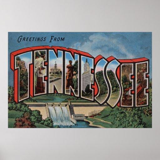 Letra grande ScenesTennessee de Tennessee (presa) Póster