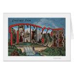 Letra grande ScenesTennessee de Tennessee (presa) Tarjeta De Felicitación