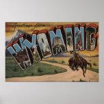 Letra grande ScenesWyoming de Wyoming (vaquero) Impresiones
