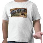Letra grande ScenesWyoming de Wyoming (vaquero) Camisetas