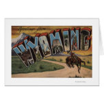 Letra grande ScenesWyoming de Wyoming (vaquero) Tarjeton