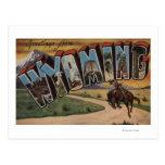 Letra grande ScenesWyoming de Wyoming (vaquero) Postales