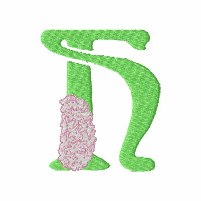 Letra H de la flor Chaqueta Bordada