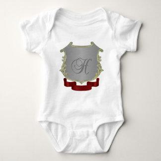 Letra H del monograma del escudo de la familia Body Para Bebé