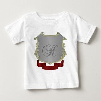 Letra H del monograma del escudo de la familia Playera De Bebé