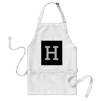 Letra H del monograma Delantal