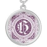Letra H en púrpura Grimpolas Personalizadas