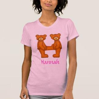 Letra H Initial~Custom Name~Shirt del alfabeto del Remeras