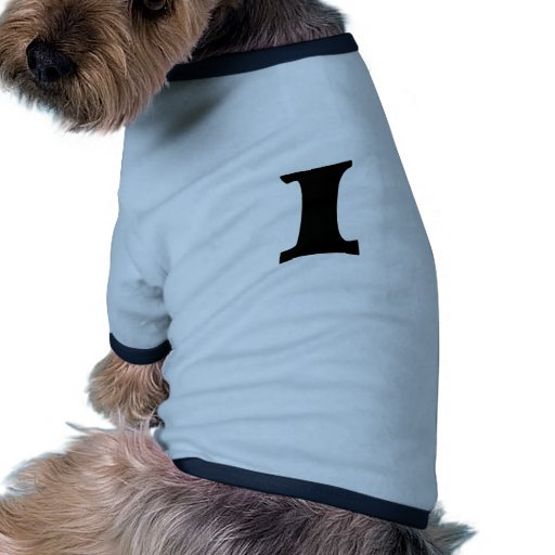 Letra I_large Camiseta Con Mangas Para Perro