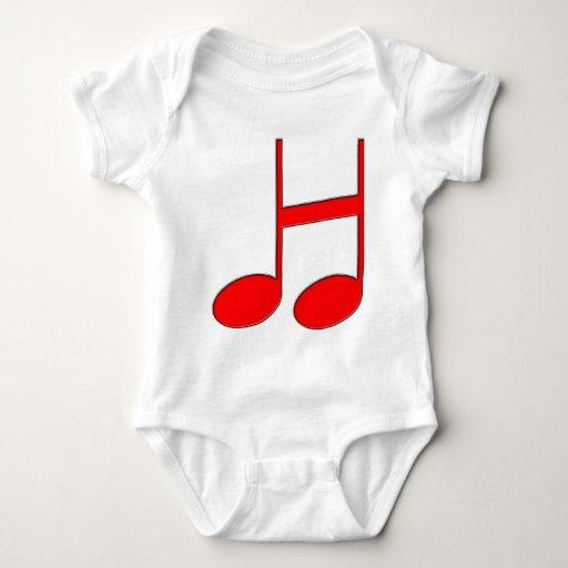 """Letra inglesa """"H"""" creada de notas musicales Body Para Bebé"""
