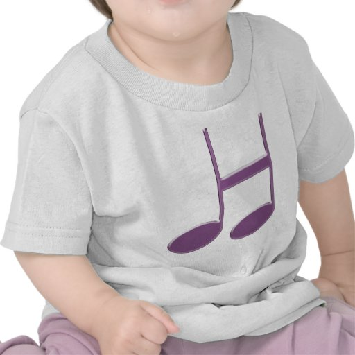 """Letra inglesa """"H"""" creada de notas musicales Camiseta"""
