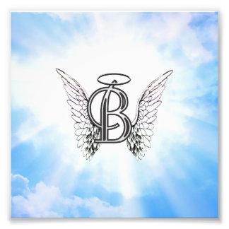 Letra inicial del alfabeto del monograma B con el