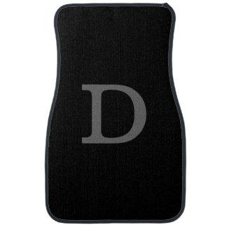 letra inicial del personalizado D Alfombrilla De Auto