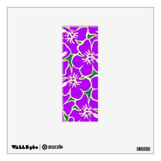 Letra inicial hawaiana floral púrpura I de Luau Vinilo Adhesivo